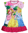 Disney Cinderella Aurora Snow White Enfants Filles Jupe Pyjama Robe 3-9 Hot Rose