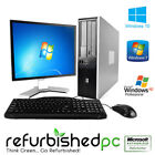 Fast HP Desktop Computer PC Deal Core 2 Duo Windows 7 10 XP + LCD + KB + MS