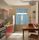 1 Set Thermal Insulated Foam Lined Blackout Kitchen Window Curtain Treatment K3