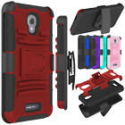 For Alcatel One Touch Fierce 4/Allura Holster Belt Clip Hard Armor Case Cover