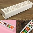 10-50x White Hollow Macaron Cake Packing Boxes Cookie Container Cupcake Storage
