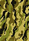 Green Camouflage Printed Wallpaper A4 Sized Edible Wafer Paper / Icing Sheet