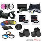 UV filter cap hood cpl fld ND Graduated Lens Filter 49/52/55/58/62/67/72/77mm UK