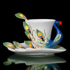 Ceramics Coffee Cup Peacock Porcelain Birthday Xmas  Gift Wedding Party Present