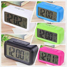 LED Mini Digital Alarm Clock Battery Powered Backlit Home Desk Thermometer Clock