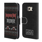 OFFICIAL JUSTIN BIEBER KNITTED CHRISTMAS LEATHER BOOK CASE FOR SAMSUNG PHONES 1