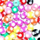 acrylic football beads, round, 8 mm and 12 mm, option for colours