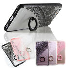 Kickstand Ring Relief Lace Pattern Ring Cover Case For Apple iPhone 7 7 Plus