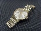 Gent Gold Plated Omega Seamaster Deville Automatic Watch On Rice Style Bracelet