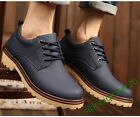 Fur Linning Lace Up New Fashion Men's asual Shoes Military Retro PU Leather Size