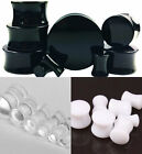 New Solid Acrylic Saddle Double Flare Ear Plug Plugs Expander Tunnel Stretcher