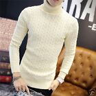 Men Sweater Pullover Jamper Turtleneck Winter Warm Knitted Fashion Casual