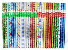 Wrapping Paper Gift Wrap Christmas 30 sq ft Assorted Foil Wrap Choose Lot Size