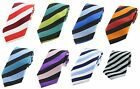 Multi Coloured Stripes Polyester Ties