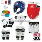 Adidas Complete Taekwondo Vinyl Sparring Gear Set with Shin, Hand and Foot Guard
