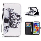 New Luxury Premium Leather Flip Book Case Wallet Stand Cover For Samsung Phones