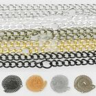 """50cm/20"""" Curb Chain For Necklace Jewelry Making 3x2x0.5mm/4.5x2.8x0.65mm"""