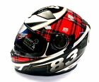 VIPER RS-V9 FULL FACE SCOTLAND SCOTTISH TARTAN FLAG MOTORCYCLE MOTORBIKE HELMET