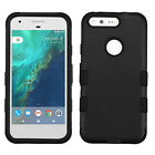 For Google Pixel & XL IMPACT TUFF HYBRID Protector Case Skin Cover +Screen Guard