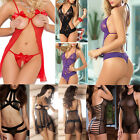 Hot Women's Lingerie Underwear Lace Dress Babydoll Sleepwear G-string Nightwear
