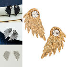 Hot New Fashion Women Gold Silver Plated Wing Crystal Stud Earrings