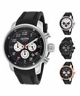 Red Line Men's Topgear Chronograph Watch with Black Silicone Band