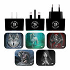 OFFICIAL ANNE STOKES VARIOUS ART BLACK EU CHARGER & USB CABLE FOR APPLE iPAD