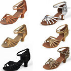 213Brand New Women's Ballroom Latin Tango Dance Shoes heeled 5cm Salsa 7 Colors