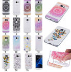 Rubber Clear Painted Pattern TPU Silicone Slim Shockproof Case Cover For Samsung
