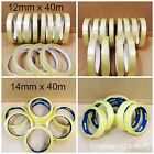 NEW CLEAR TAPE ROLLS STRONG PARCEL TAPE PACKAGING SELLOTAPE 12mm x 40m CELLOTAPE