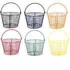 Country Farm Style Strong Colour Metal Wire Egg Holder Stand Basket with Handle