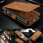 For Samsung S7 iphone 7 6 Leather Removable Wallet Magnetic Flip Card Case Cover