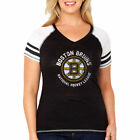 Boston Bruins Soft As A Grape 16 Womens Plus Sfg   Raglan T-Shirt - Black