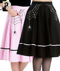 HELL BUNNY MISS MUFFET 50s style SPIDER WEB rockabilly SKIRT BLACK