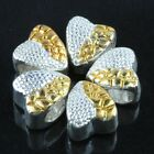 Heart Shape Silver Gold Plated Alloy Loose Beads Fit European Charm Bracelets