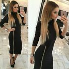 US Women Cocktail Club Party Glam Bodycon Mini / Madi Dress Long Sleeve Jumpsuit
