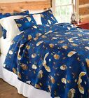 Owl Quilted Bedding Set King Queen Full Twin Throw Pillow...
