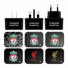 LIVERPOOL FC LFC CREST LIVERBIRD BLACK UK CHARGER MICRO-USB CABLE FOR SAMSUNG 1