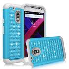 For Motorola Moto G4 Play Case Hybrid Shockproof Rubber Crystal Armor Hard Cover