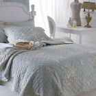 Sashi Bed Linen Florence Toile Quilted Bedspread & Pillow Sham Set, Duck Egg