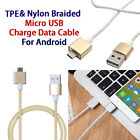 Magnetic Braided/TPE Micro USB High Speed Charge Data Cable Fr Samsung Android #