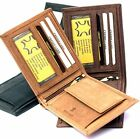 Mens REAL Leather Wallet | SLIM | 3 Colours | ID Window | ZIP | FREE Shipping