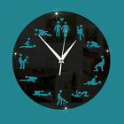 Unique Sexual Position Clock 24 Hours Sex Clock Novelty Adult Only Wall Clock P