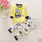 100% Cotton Baby Winter Autumn Clothes Set 2pcs Boy Girl Kids 7 - 24 Months