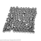 41 100PCs Stainless Steel Smooth Spacer Beads Silver Tone