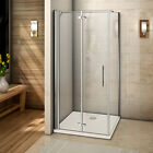 Frameless Bi Fold Shower Door Enclosure Tray Side Panel Glass Screen Save Space