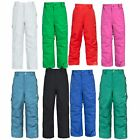 Trespass Nando Boys Girls Insulated Waterproof Kids Ski Pants with Braces