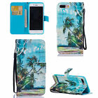 For iPhone 5 6S 7 Plus Luxury Magnetic Wallet Painted Card Slot Stand Case Cover