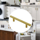 "Gold Door Cabinet Handles T Bar Drawer Pulls Knobs Stainless Steel ∅1/2""W Screws"