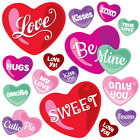 Childrens Pink Love Heart Wall Stickers LoveKissHearts Hart.8.M